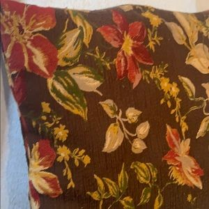 None Bedding - 100% Polyester Floral Accent Pillow